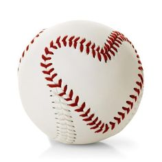 This heart-stitched baseball would be a great gift for the guy in your life <3