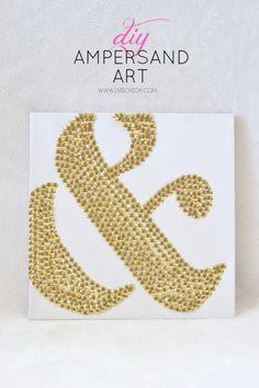 DIY Ampersand Thumb Tack Art