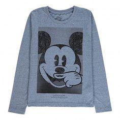 T-shirt Mickey ML Bleu Little Eleven Paris