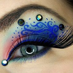 Try an exotic makeup look that's as original and unique as you are. Wear it to a costume party!