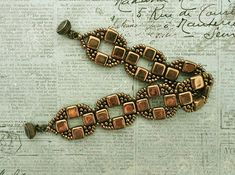 Linda's Crafty Inspirations: Bracelet of the Day: Coin Band - Bronze