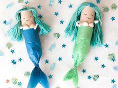 Mermaids make toilet rolls Lady Lemonade Craft Activities, Preschool Crafts, Fun Crafts, Arts And Crafts, Projects For Kids, Diy For Kids, Crafts For Kids, Decoration Pirate, Mermaid Crafts