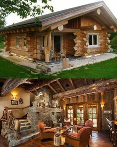 Want to buy or build a log cabin? This article will explain why log cabins are actually a practical and reasonable choice for homeowners. Log Cabin Living, Log Cabin Homes, Log Cabins, Dream Home Design, My Dream Home, Metal Barn Homes, Tiny House Cabin, Dream House Exterior, Cabins And Cottages