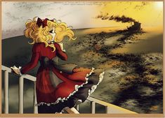 Candy Candy manga coloring - Sunset by selinmarsou on DeviantArt