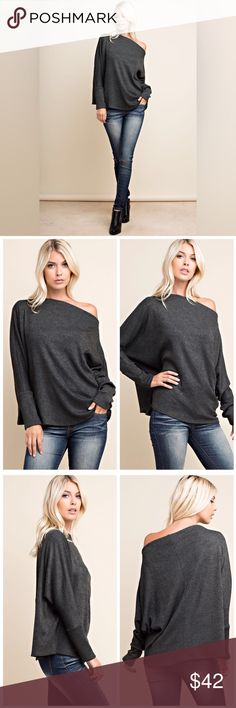 Cassi  Off the Shoulder Rib Knit Top d e s c r i p t i o n  Feel comfy no matter where you are in this gorgeous olive off the shoulder, rib knit top. This top is so soft and perfect for the transition to fall! Made in USA.  c o n t e n t  60% rayon | 30% polyester | 10% spandex       m e a s u r e m e n t s ✂️  coming soon  p a i r e  w i t h   + becka mesh panel yoga pants  bundle for a discount VEGA Tops