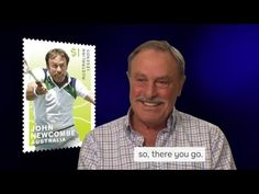 """""""I would never have dreamt of being on a postage stamp in Australia."""" Australian former World singles and doubles tennis player, John Newcombe AO OBE ta. John Newcombe, Tennis Players, Stamp Collecting, Postage Stamps, Thats Not My, Things To Come, Australia, In This Moment, Baseball Cards"""