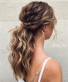 Perfect Ponytail Hairstyles Trends for Women in 2018 – Hair Styles 2019 Romantic Wedding Hair, Wedding Hair And Makeup, Bridal Hair, Ponytail Wedding Hair, Bridesmaid Hair Ponytail, Hair For Bridesmaids, Hairstyles For Bridesmaids, Hair Makeup, Fancy Ponytail