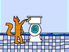 Training cats to use the toilet and flush