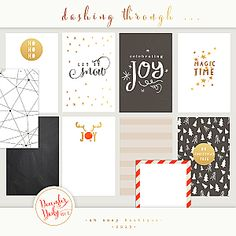 Gorgeous digital December Daily cards :: Oh Snap Boutique