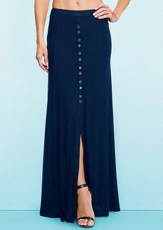 Taylor Button-Front Maxi Skirt - Tall Skirts - Skirts - Clothing - Alloy Apparel