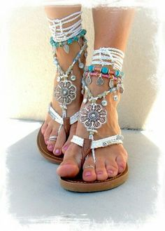 Just saw this at http://www.justtrendygirls.com/bohemian-barefoot-sandals/