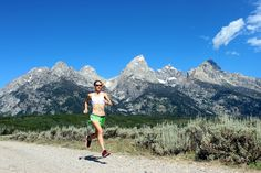 Andrea North on the River Road jeep trail, Grand Teton National Park. #trailrunning