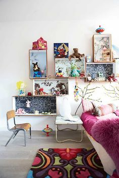 Another idea for organizing my daughters room.....now to find the boxes....