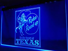 LK390- Cowboys Horse Rodeo Texas Bar LED Neon Light Sign #Unbranded #Modern