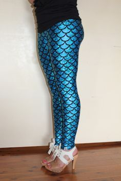 Must Have these!!!  How hot with a little black sweater dress! MERMAID leggings