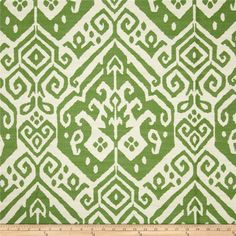 Covington Teagan Jacquard Verde from @fabricdotcom Refresh and modernize any home decor with this heavyweight jacquard fabric. Perfect fabric for revitalizing an old piece of furniture and updating it with a new look. This fabric is an appropriate weight for accent pillows, slipcovers, and upholstering furniture, headboards and ottomans. Colors include off white and lime green.