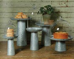 Rustic Tin Cake Stand - Wedding Dessert Table