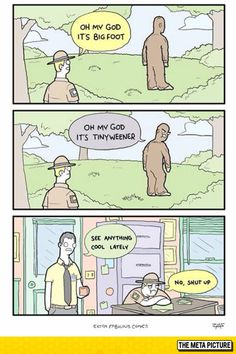 funny-Bigfoot-guard-forest-look-comic
