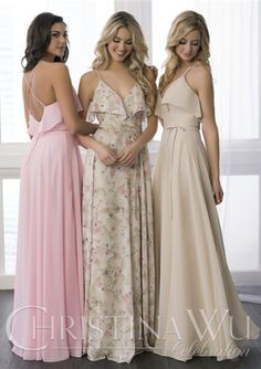 6e968574d18b Buy Australia Chiffon Floor Length Ruched Spaghetti Straps Pink A-line  Sleeveless Criss Cross Bridesmaid / Wedding Party Dresses at AU$179.52