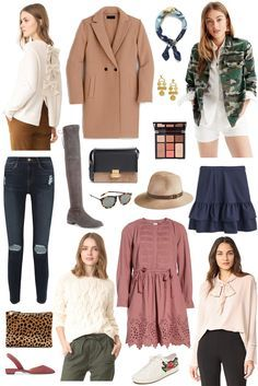 fall style // color palette for fall #fallfashion #dustyrose #ivory #navy #camo #camel