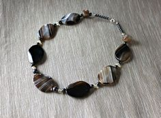 Necklace with brown agate, quartz and hematite from Especially for You Available on http://en.dawanda.com/shop/Especially-4-You  facebook.com/especiallyfryou