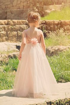 Flower Girl dress Blush Pink Sequin Flower Girl dress by Bubale1