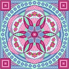 Ferris Wheel - cross stitch pattern designed by Susan Saltzgiver. Category: Geometric.