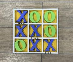 Includes unfinished wooden tic tac toe board, three paint colours (one for the board, one for the X's and one for the O's) (paint brush not included). Tic Tac Toe Board, Paint Colours, Delivery, Kit, Create, Painting, Color, Paint Colors, Painting Art