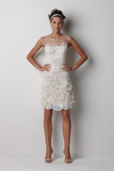 short lace wedding dress. #bridal #gown