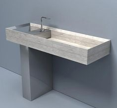 Washbasin made of Lithoverde eco-compatible stone by Salvatori #cloakroom #bathroom