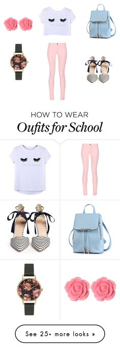 """I got my eyes on the prize"" by lee-hyelim on Polyvore featuring Chicnova Fashion, Maison Kitsuné, J.Crew, Dollydagger and Olivia Burton"