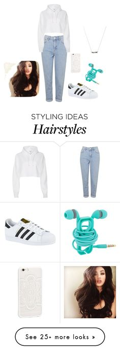 """""""Untitled #1196"""" by vireheart on Polyvore featuring Topshop, River Island and adidas"""