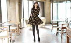 All Korean Fashion items up to 60%OFF! (Sale ends 2nd Nov, 2014) mimi & didi - Floral-Patterned A-Line Dress #floralpatterneddress #minidress #dress #alinedress