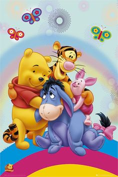 Friends Forever Winnie the Pooh, Piglet , Tigger, and Eeyore