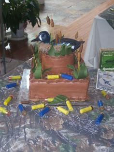 Duck hunt cake