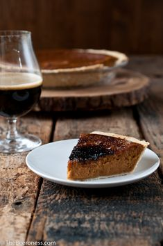 Bruleed Pumpkin Beer Pie