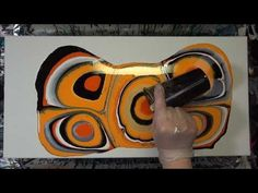 Orange Acrylic Pouring Puddle Pour 5 of 7- Dry Result (20) - YouTube