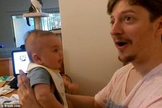The video concluded with Ted looking up and his wife in shock, while baby Ben stared at hi...