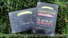 Backyard Olympics games: The Dating Divas free printable invitations and signage