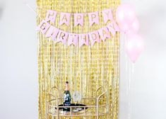 ✔ YOUR IDEAL KIT - Take your birthday party to the next level with a beautiful backdrop and stunning decorations. We can only imagine how gorgeous you and your friends will look next to the picture worthy decorations kit. ✔ 11 PIECE KIT: ✓ 9 balloons - 12 inch Latex Balloons (Pink), ✓ 1 set - 21st Birthday Decorations, Gold Party Decorations, Engagement Party Decorations, Happy Birthday Wishes Quotes, Happy Birthday Parties, Happy Birthday Banners, Birthday Cake, Latex Balloons, 21st Balloons