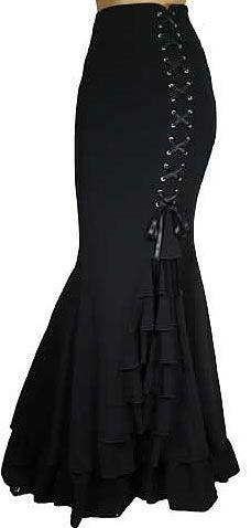 Morticia Skirt - Black