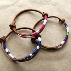 Leather & Thread Easy Bracelets