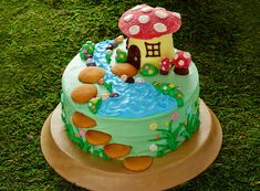 Fairy Birthday Cake http://www.bettycrocker.com/menus-holidays-parties/mhplibrary/birthdays/fairy-garden-birthday-party