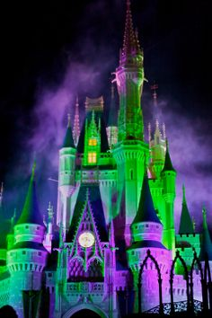 The castle at Halloween