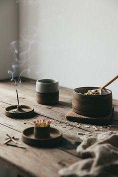 This ceramic incense holder is hand thrown from a mixture of dark and light stoneware clays with added texture giving each piece its own beautifully tactile and unique feel.