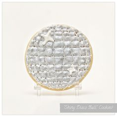 Shiny Disco Ball Cookies - 70's inspired cookie favors