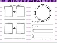 Great to use in Guided Reading Notebooks!