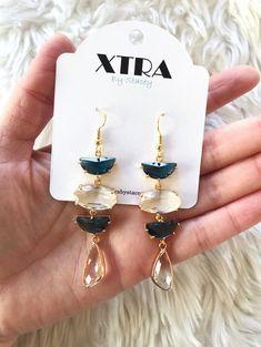 Hand-made crystal earrings crystal earrings Korean series handmade feminine elegance dinner ear clip earrings