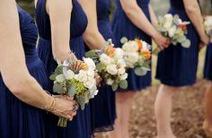 navy bridesmaid dres