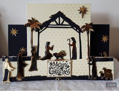 Stepper card made using Away in a Manger dies from the Sara Signature collection Traditional Christmas. Designed by Claire Murphy #crafterscompanion #Christmas